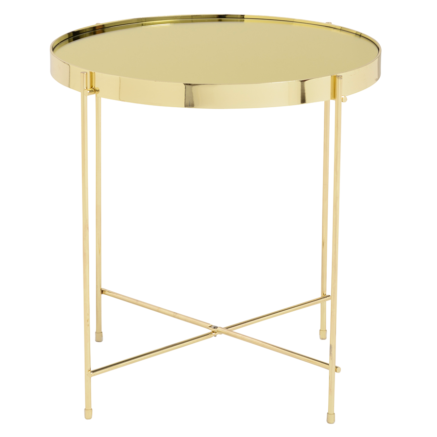 Trinity Gold Metal Modern Side Table