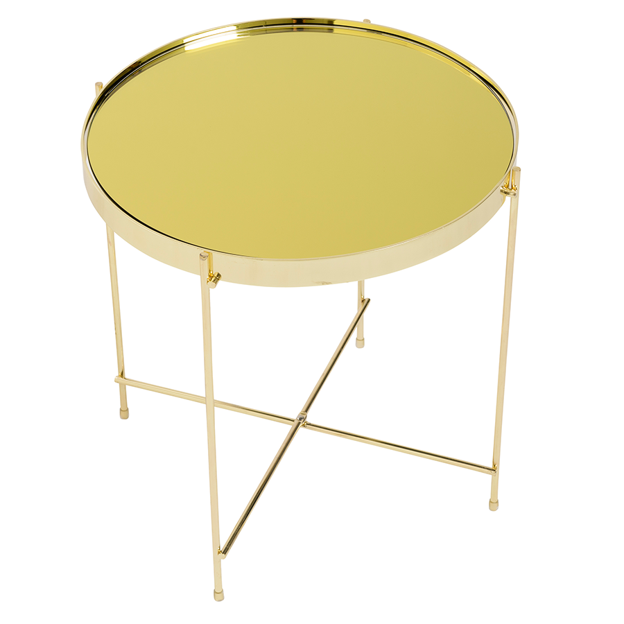 Trinity Gold Metal Contemporary Side Table