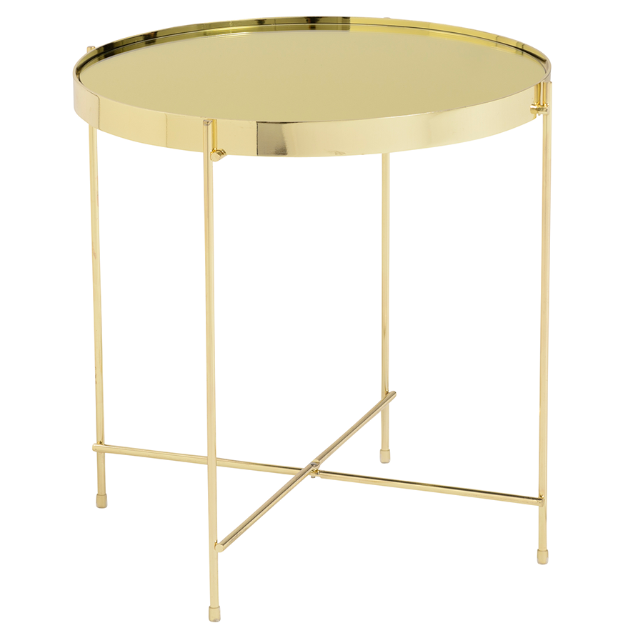 Trinity Gold Modern Side Table
