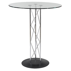 Tris Modern Classic Bar Table w/ Black Base