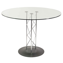 Tris Modern Classic Dining Table w/ Black Base