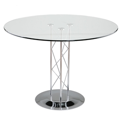Tris Modern Chrome Dining Table