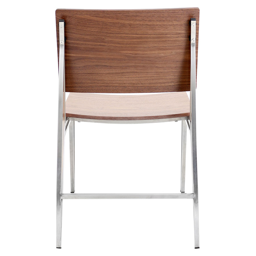 Trudy Walnut + Metal Contemporary Dining Chair