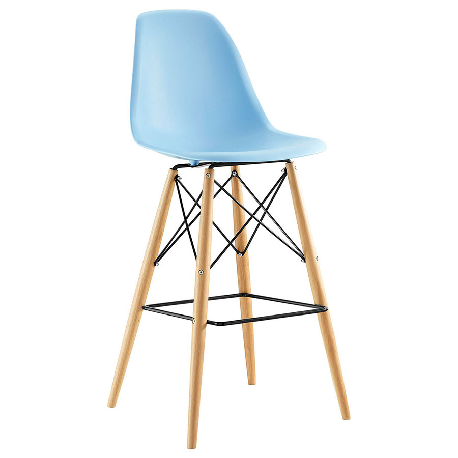 Truss Blue Mid-Century Modern Bar Stool