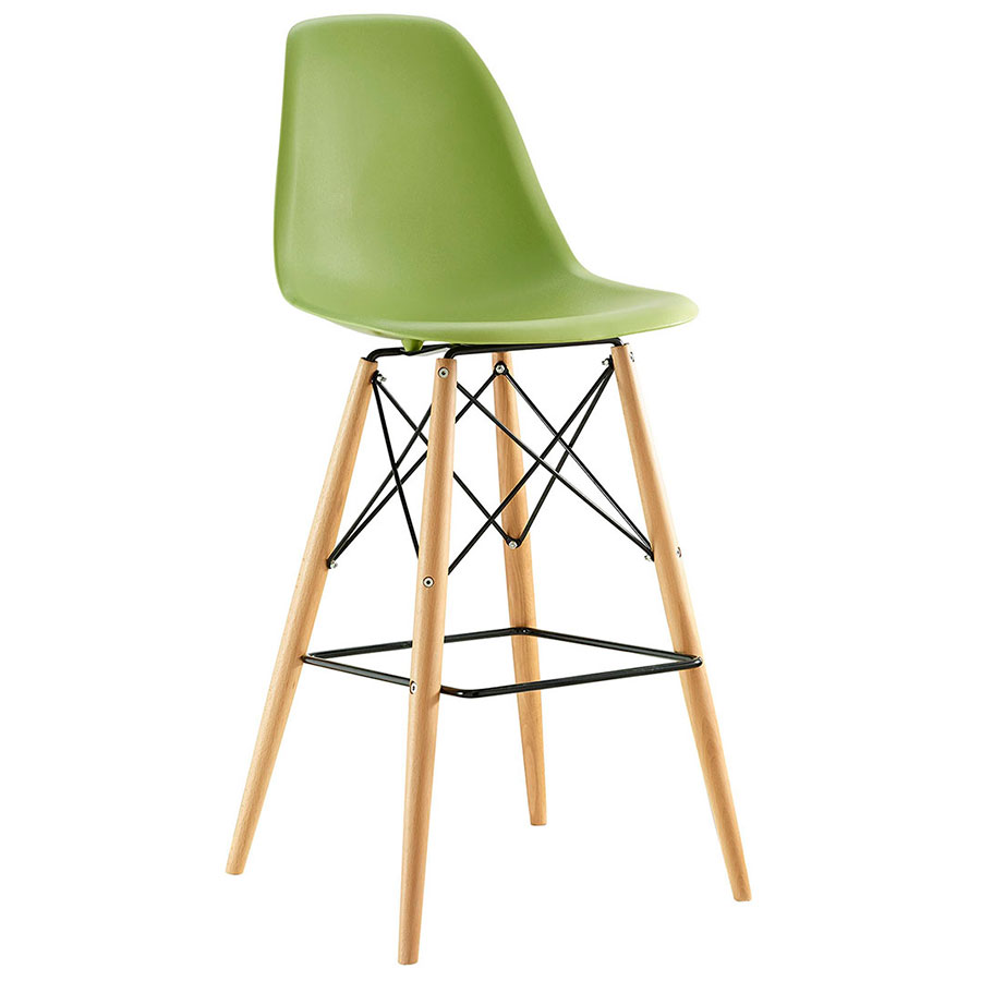 Truss Green Mid-Century Modern Bar Stool