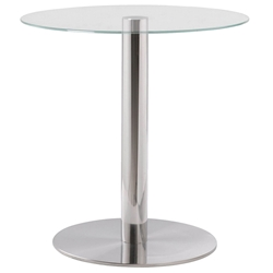 Turn Modern Stainless Steel Accent Table