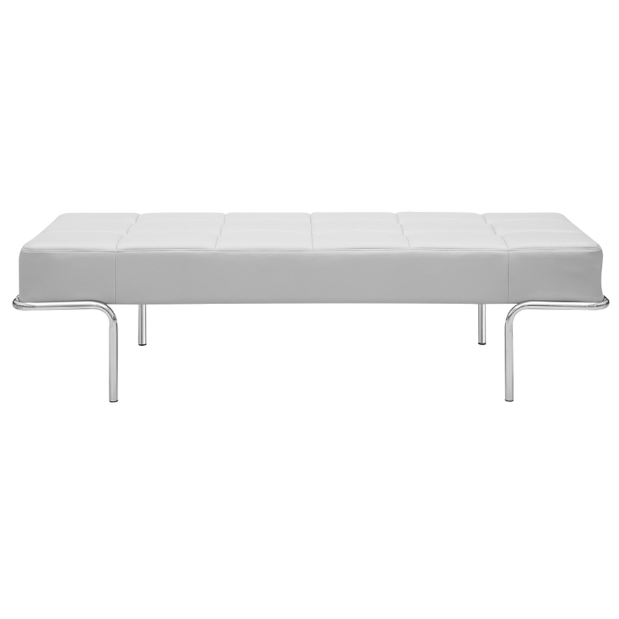 Tuscan White Contemporary Bench