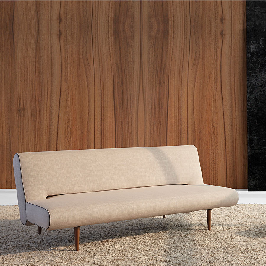 Unfurl Modern Sofa Sleeper in Natural Fabric