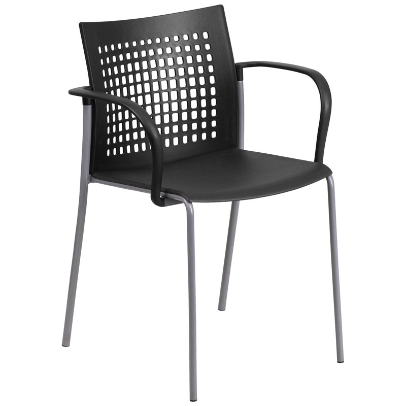 Union Modern Stacking Guest Chair in Black