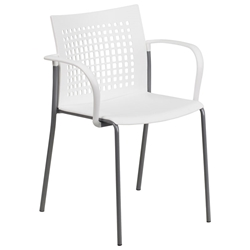 Union Modern Stacking Guest Chair in White