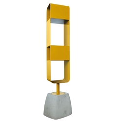 Ursa Mustard Modern Swivel Shelves