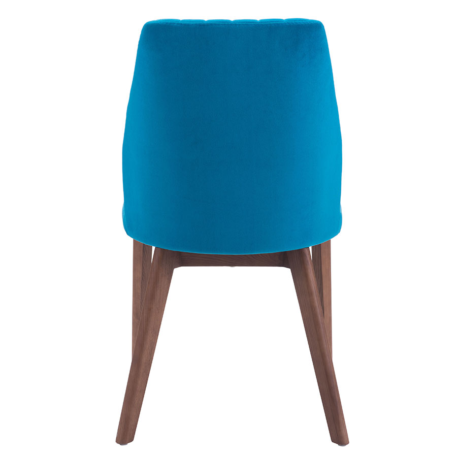 Valencia Blue Fabric Contemporary Dining Chair