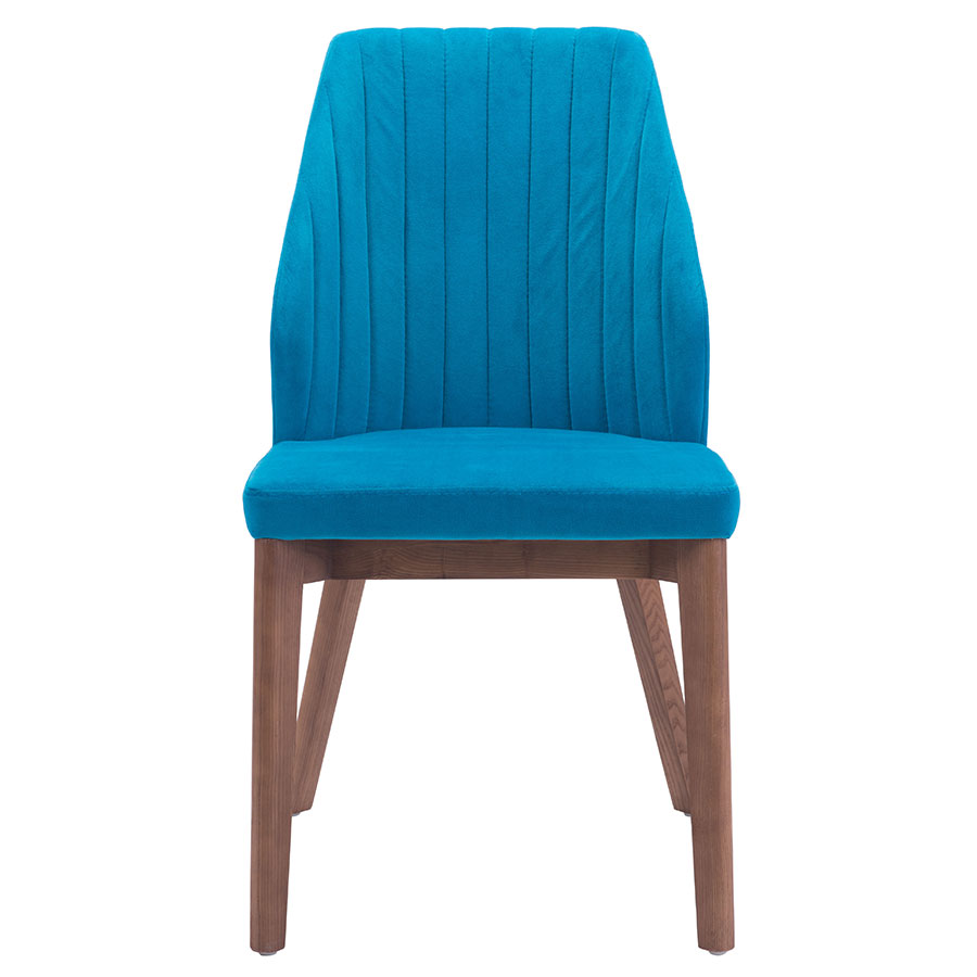 Valencia Blue Contemporary Dining Chair