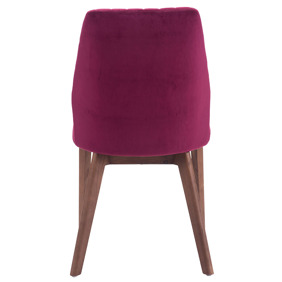 Valencia Red Fabric Contemporary Dining Chair