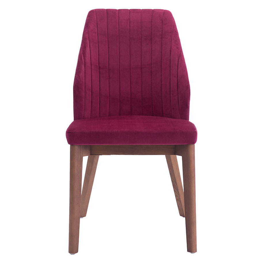 Valencia Red Contemporary Dining Chair