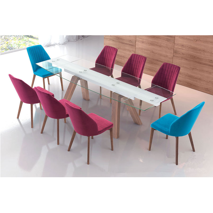 Valencia Contemporary Dining Chair + Wyatt Modern Extension Table