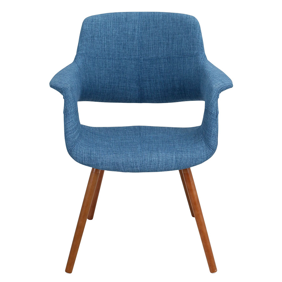 Valera Blue Contemporary Arm Chair