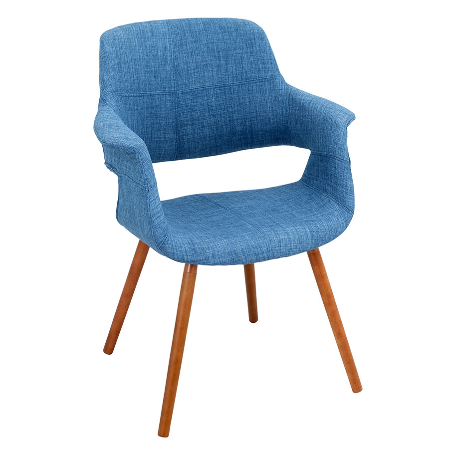 Valera Blue Modern Arm Chair