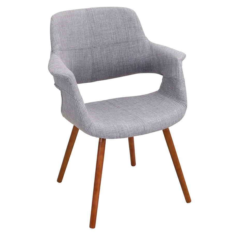 Valera Gray Modern Arm Chair