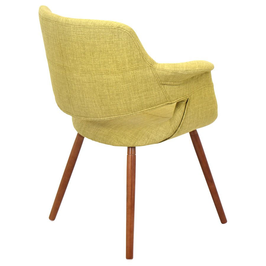 Valera Modern Green Lounge Chair - Back View