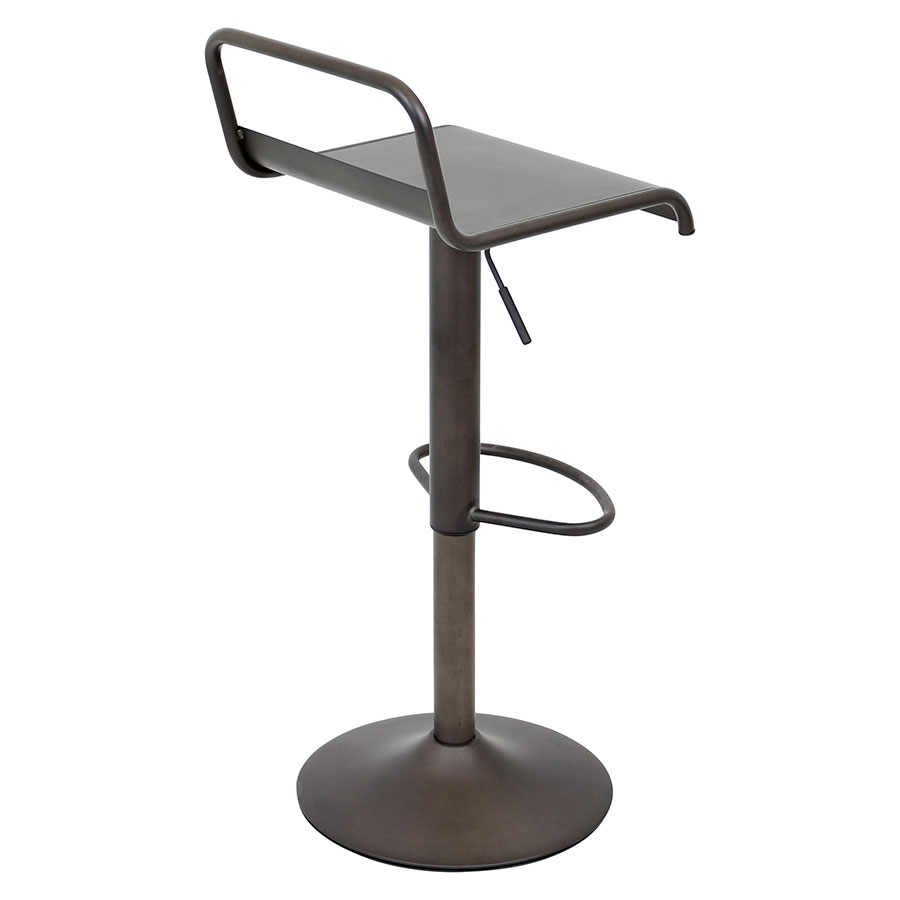 Vallejo Antique Metal Contemporary Adjustable Stool