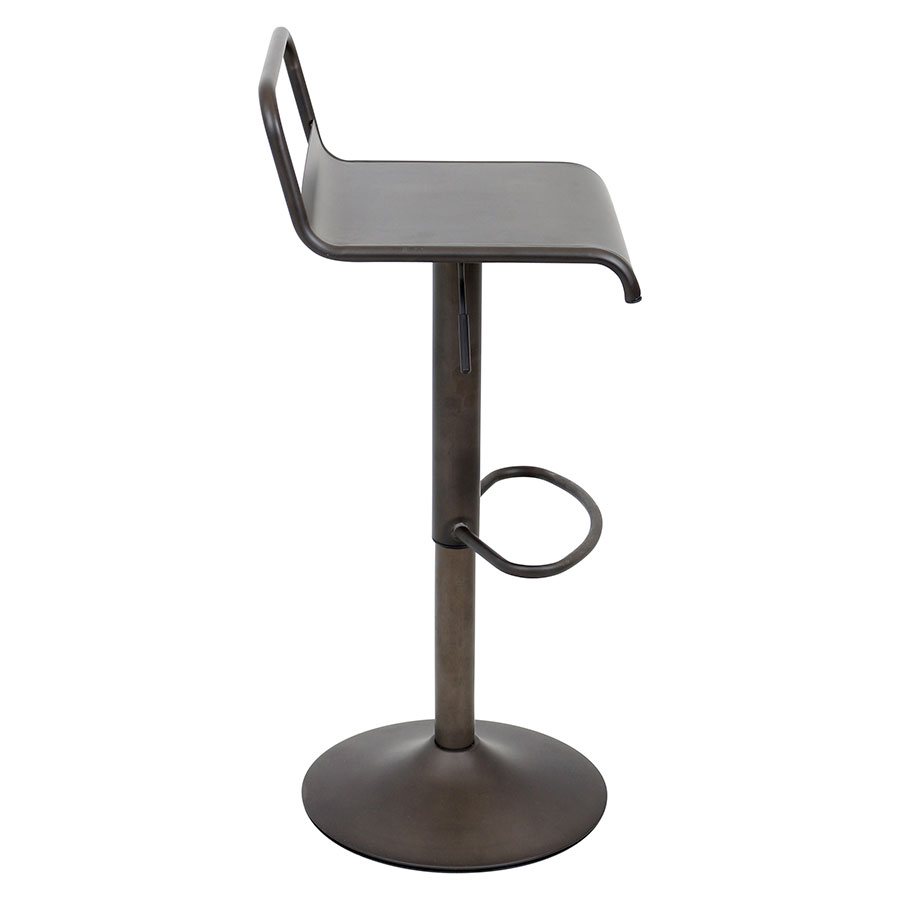 Vallejo Antique Metal Modern Adjustable Stool