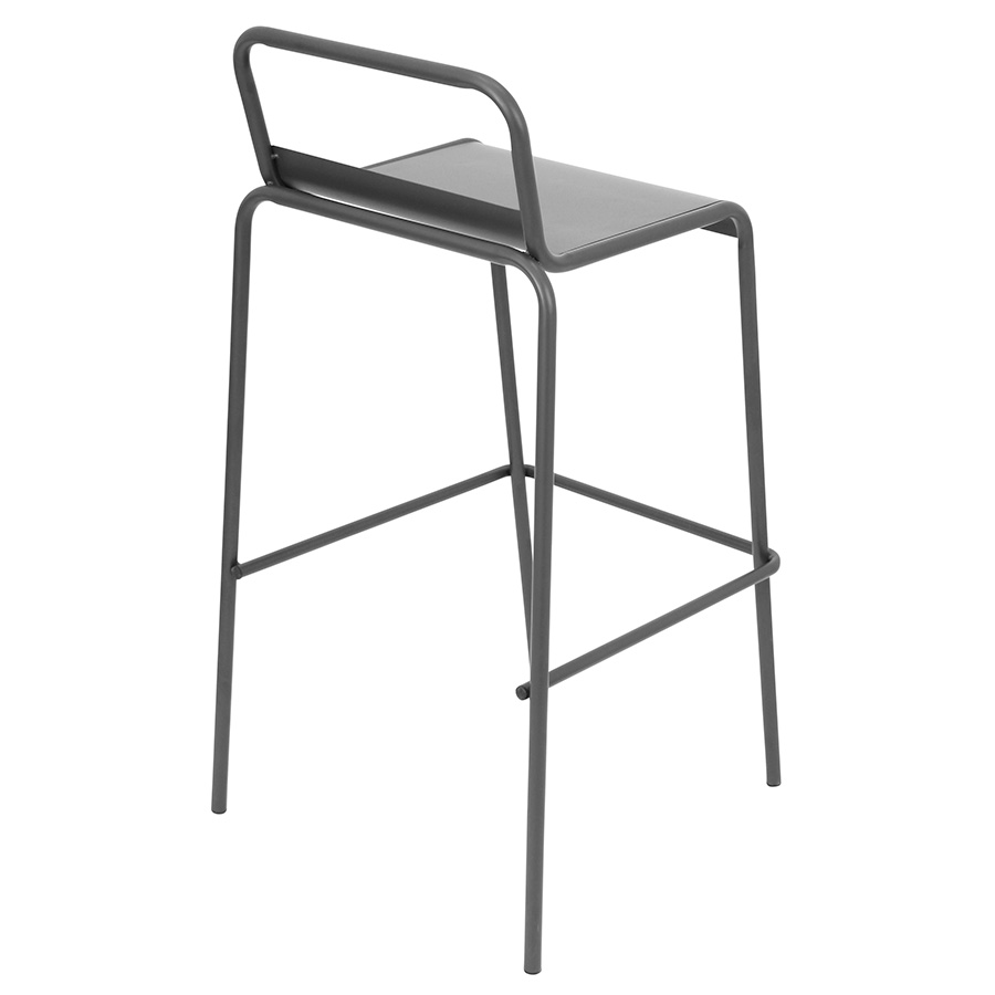 Vellejo Modern Antique Stacking Bar Stool - Back View