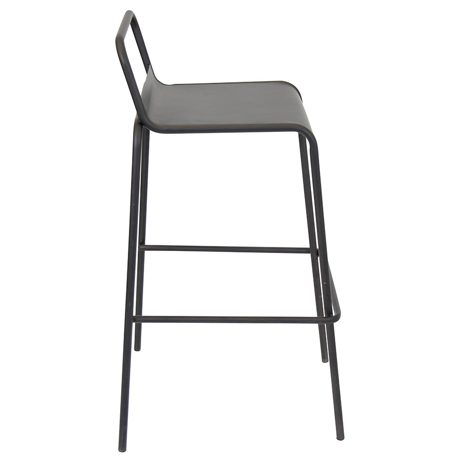 Vellejo Modern Antique Stacking Bar Stool - Side View