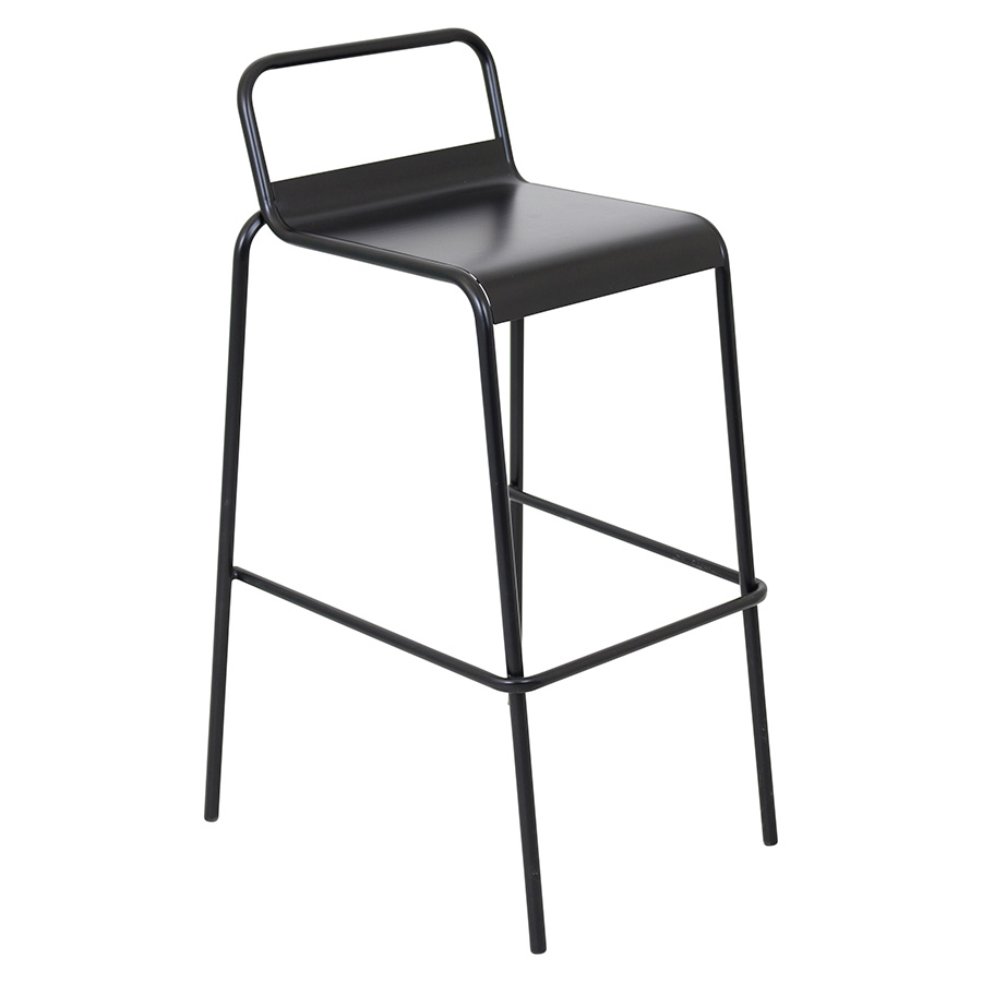 Vellejo Modern Black Stacking Bar Stool