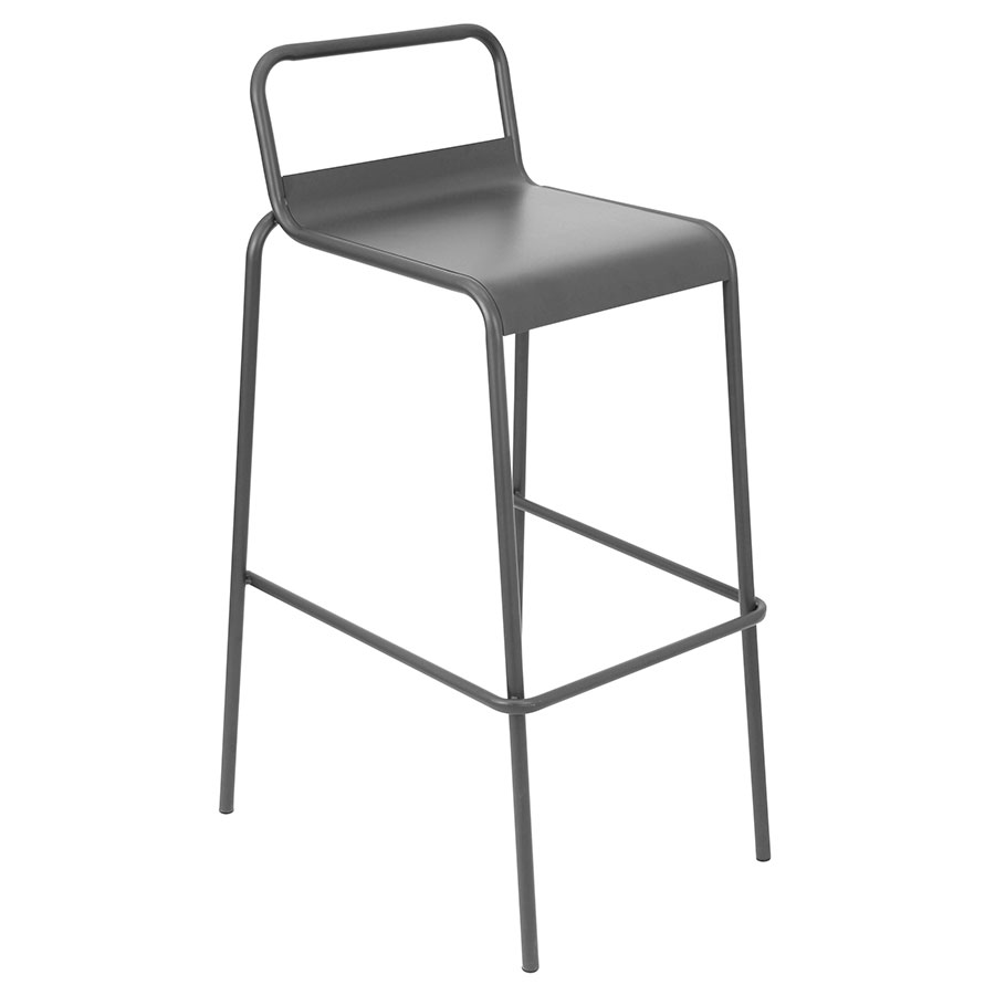Vallejo Gray Modern Stacking Bar Stool