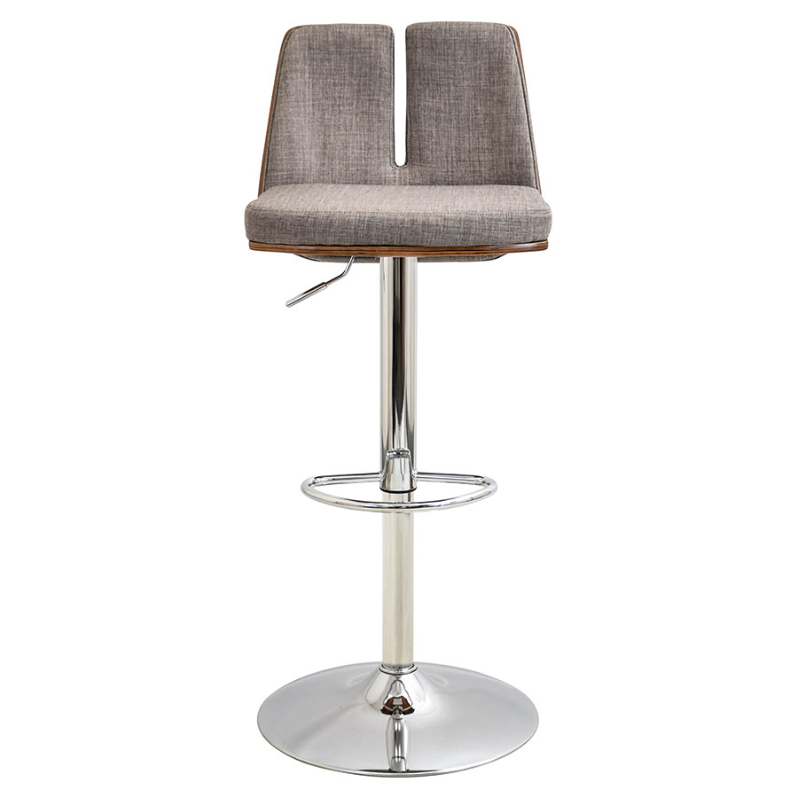 Valto Taupe Contemporary Adjustable Stool