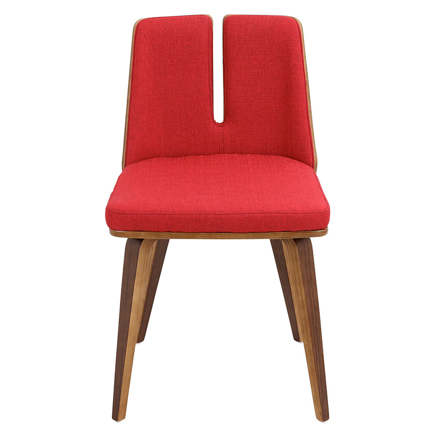 Valto Red Contemporary Side Chair