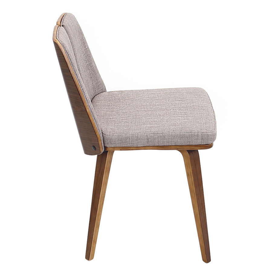 Valto Taupe Contemporary Side Chair