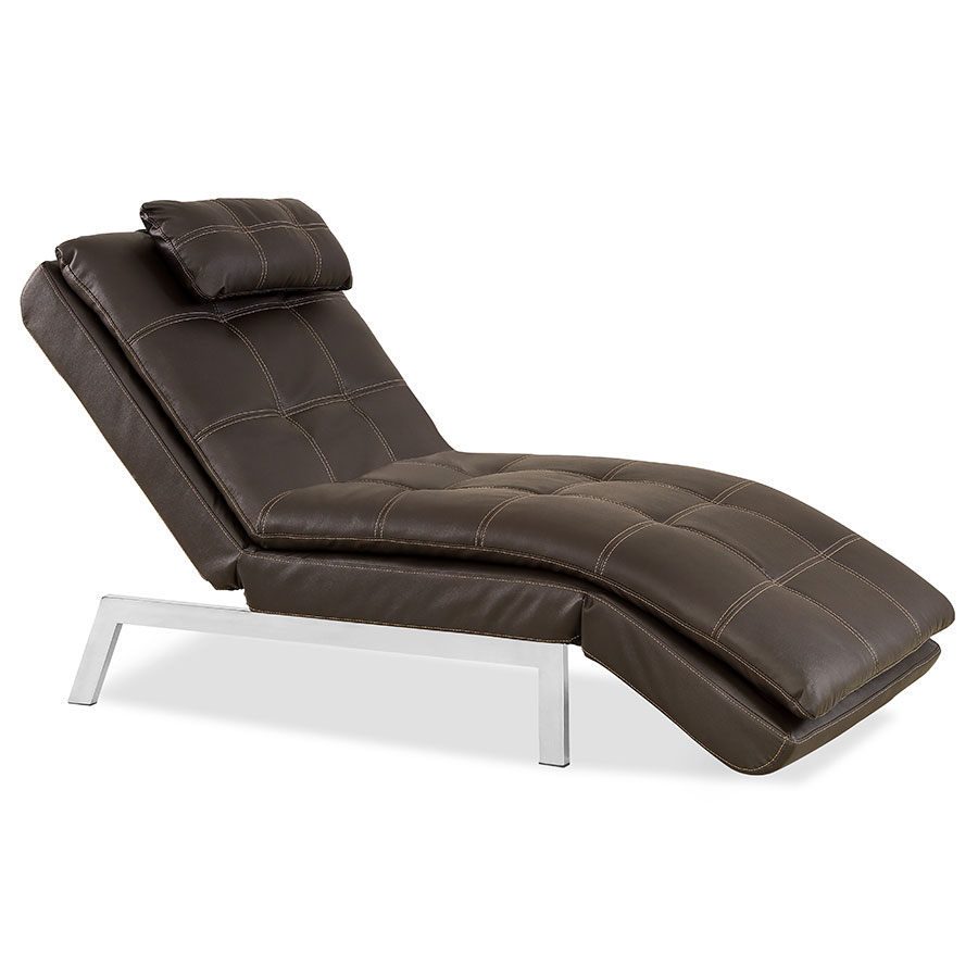 Valverde modern chaise lounge eurway modern furniture for Chaise basse combelle