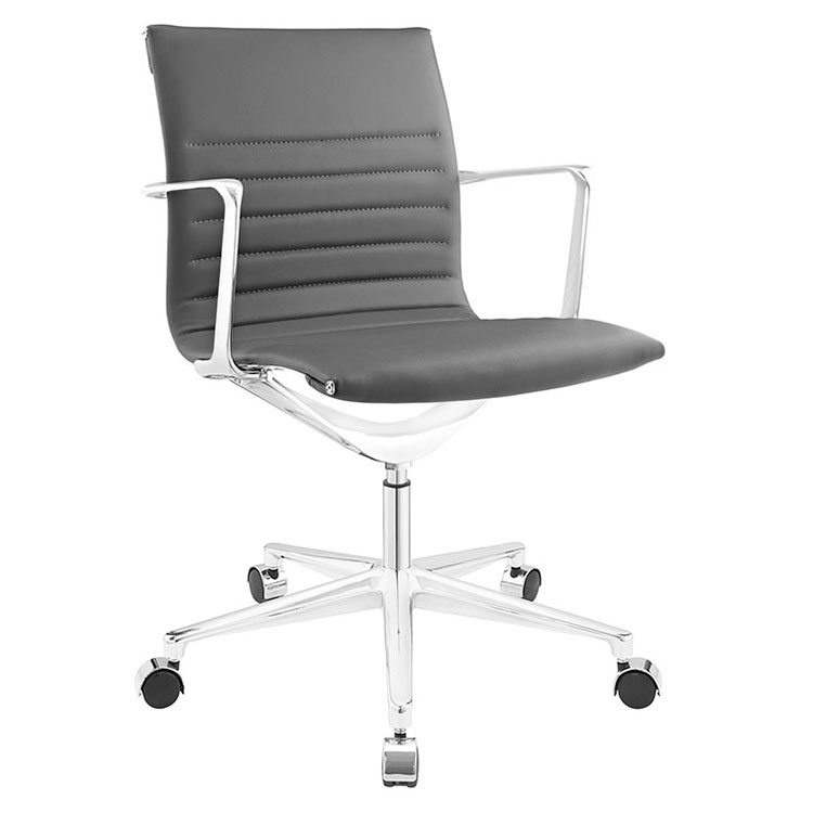 Vanguard Gray Mid-Century Modern Office Chair