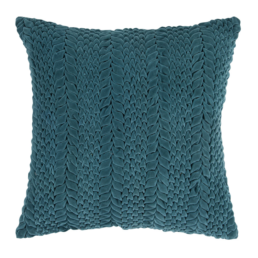 "Vasanth 18"" Teal Modern Pillow"
