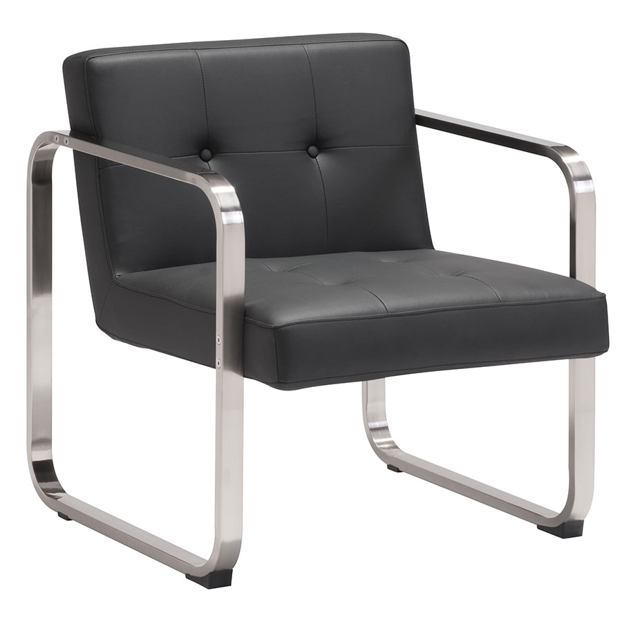 Vasco Black Modern Arm Chair