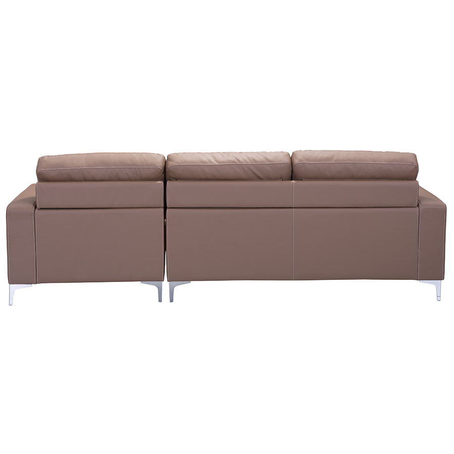 Vega Brown Leatherette Contemporary Sectional