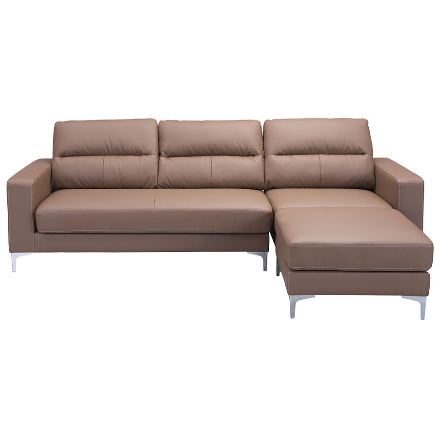 Vega Brown Reversible Contemporary Sectional