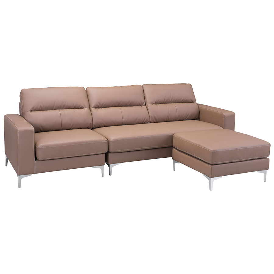 Vega Brown Contemporary Sectional