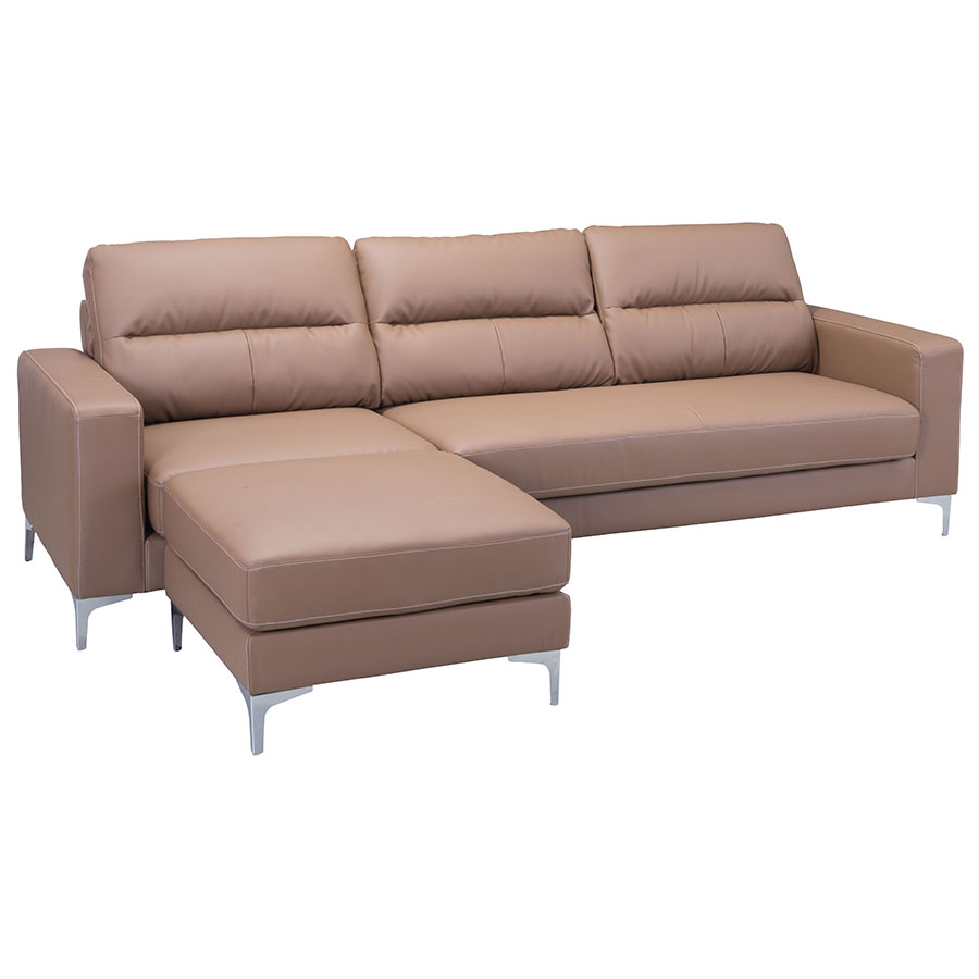 Vega Brown Modern Sectional