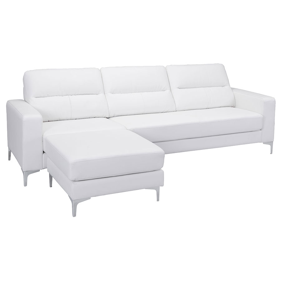 Vega White Modern Sectional