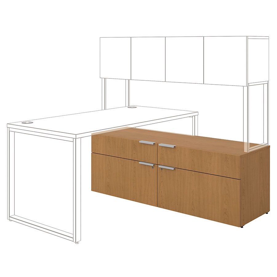 Velocity Modern Credenza - Harvest Configuration Drawing