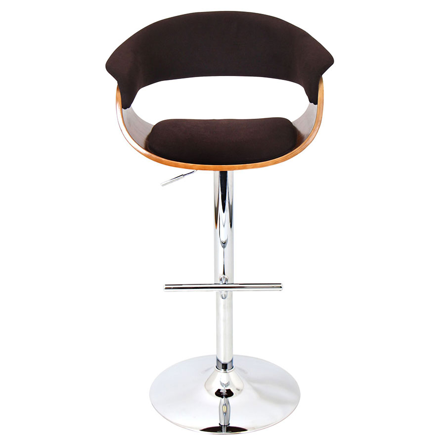 Venice Brown Modern Adjustable Stool - Front View