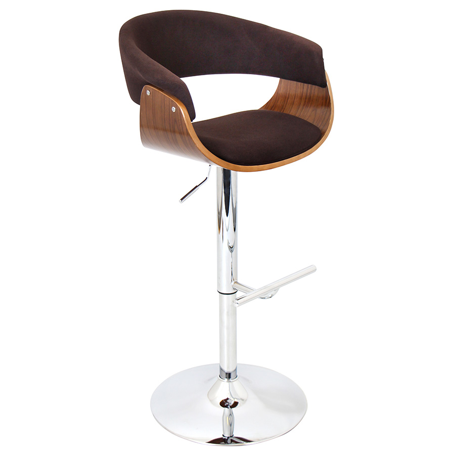 Venice Modern Walnut and Espresso Adjustable Stool