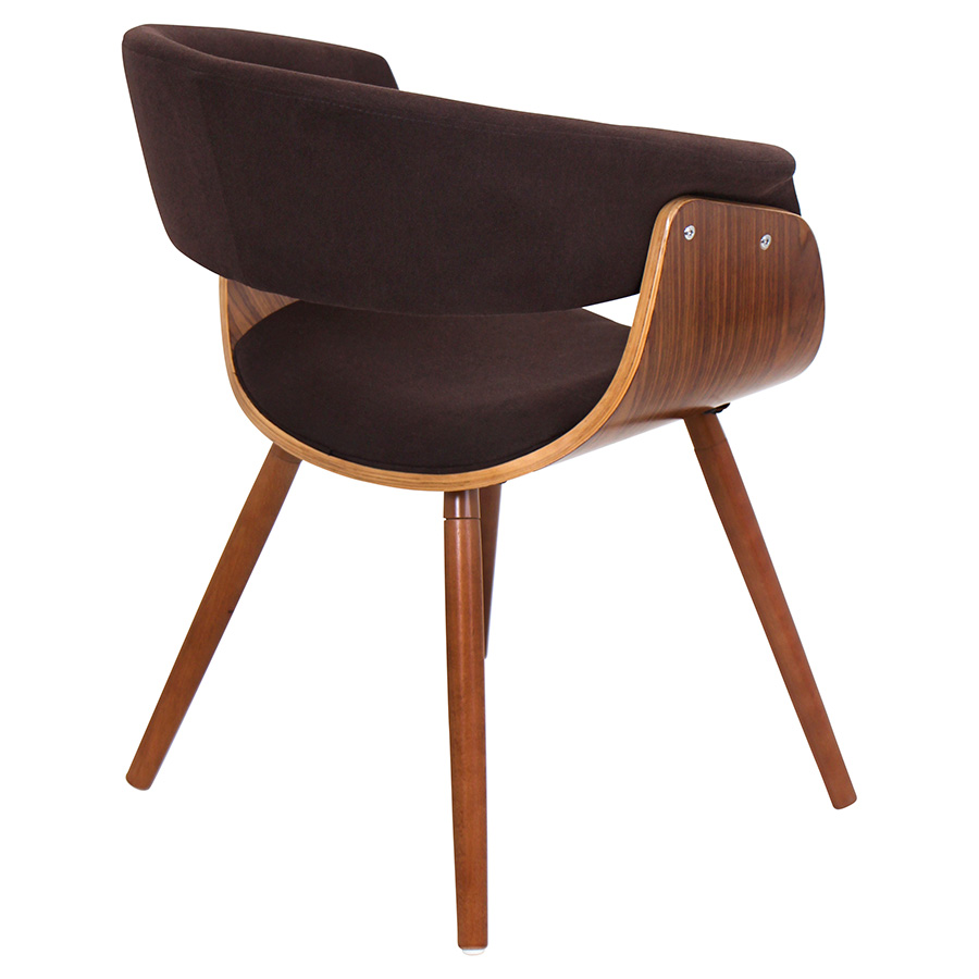 Venice Modern Espresso Lounge Chair - Back View