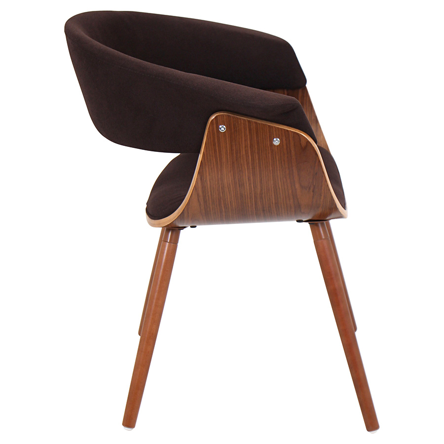 Venice Modern Espresso Lounge Chair - Side View