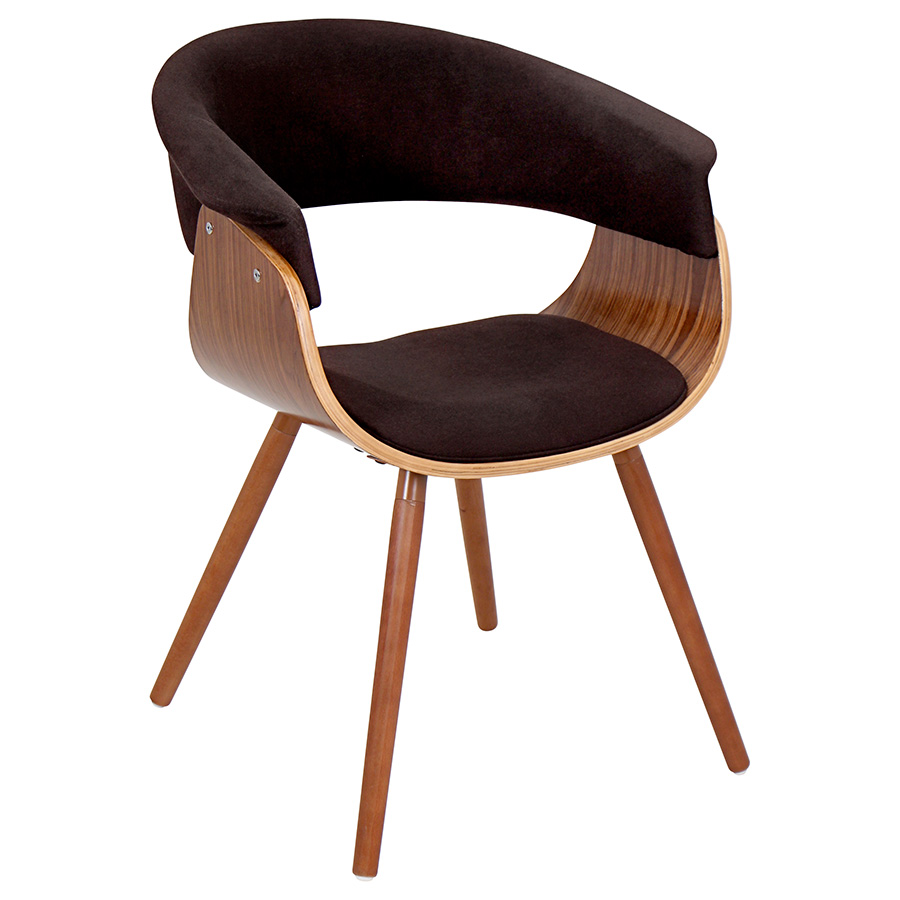 Venice Modern Espresso Lounge Chair
