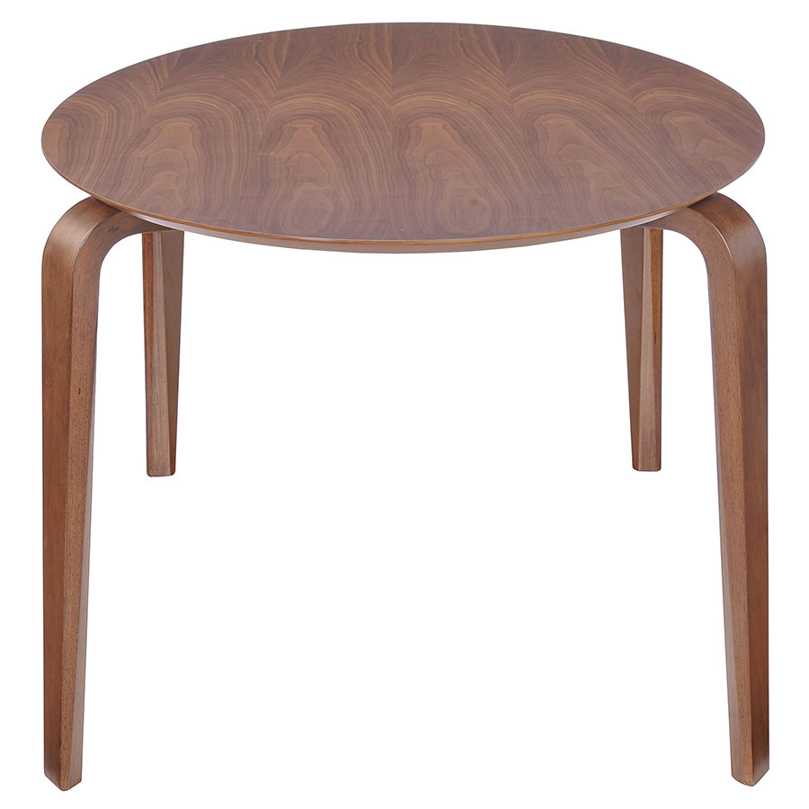 Vermont Modern Oval Dining Table - End View