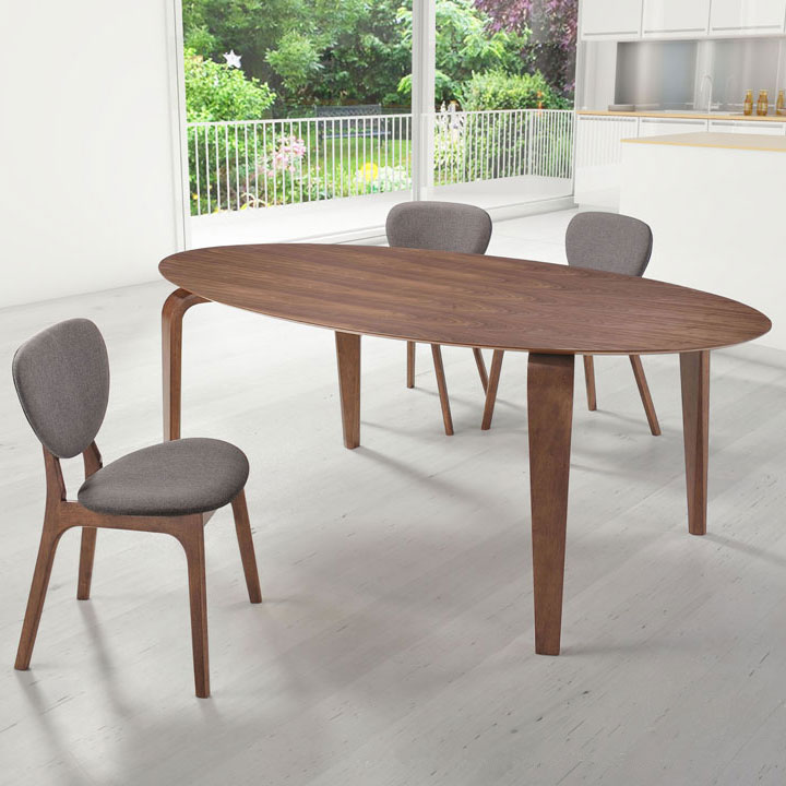Vermont Contemporary Oval Dining Table